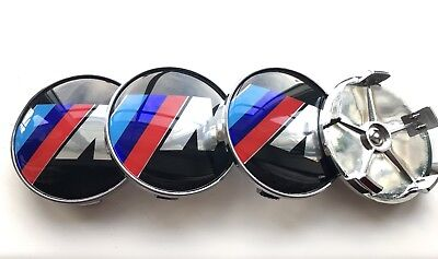 4x68mm Gloss ALLOY WHEEL CENTRE CAPS 5 Pin Will Fits BMW M Sport MOST SERIES