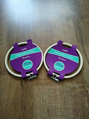 2 Embroidery Hoops 15cm