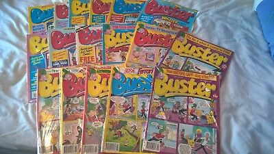 uk comics job lot joblot x17 buster & with whizzer and chips 1990 1994