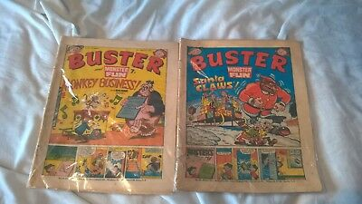 buster and monster fun uk comics x2 issues 18 december 1976 & 5 march 1977