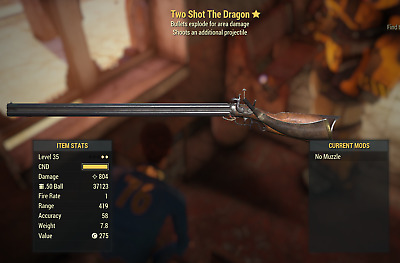 Two Shot Explosive The Dragon (2star) (for Fallout 76, PC)