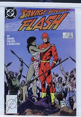 DC comic the flash the savage speedster #10 1988