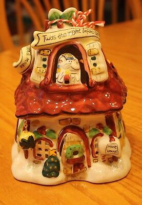 Blue Sky Clayworks Twas The Night Before Christmas Mouse House T Light Goldminc