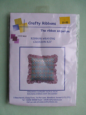 RIBBON WEAVING CUSHION KIT - LILAC MIST - CRAFTY RIBBONS - 35cm x35cm - (XA10)