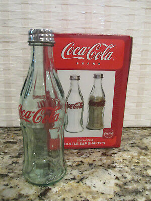 Coca Cola Salt Or Pepper Shaker Single Replacement Green Glass Bottle With Box