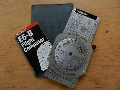 Asa E6-B Flight Computer Complete With Instruction Manual & Protective Cover