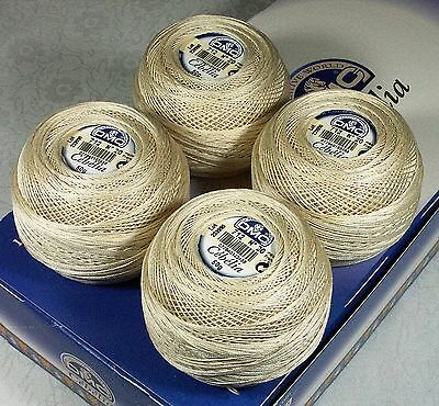 4 x 50gr balls of Cebelia Size 20 167.20.712 Cream 712 NEW Made France crochet