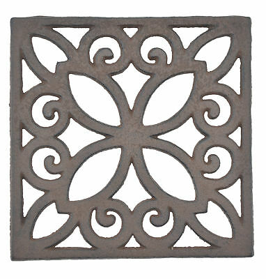 Decorative Trivet Square Cast Iron Hot Pad Kitchen Decor