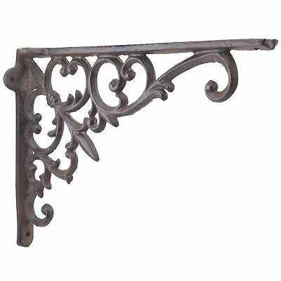 Fleur De Lis & Vine Shelf Bracket Cast Iron Brace
