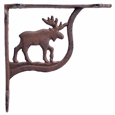 Moose Shelf Bracket Cast Iron Brace Hunting Lodge Cabin Crafting Decor 7.25""