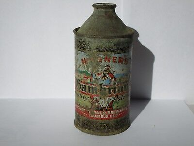 1948 Wagner's Gambrinus Irtp Hp Cone Top Beer Can Columbus Ohio