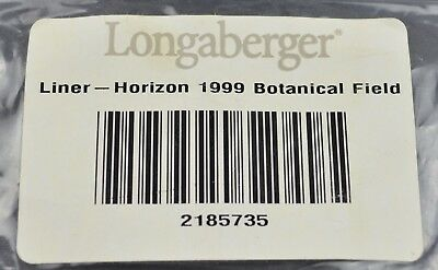 Longaberger Horizon 1999 Basket Liner Botanical Fields Collectible Accessory