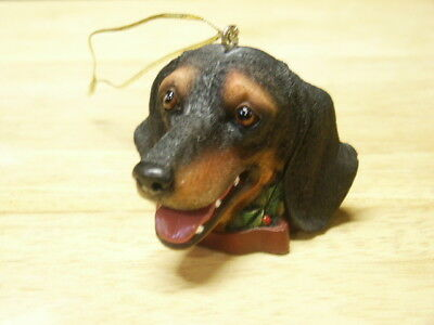 Dachshund Head With Tongue Christmas Ornament  New Without Tag
