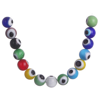 50Pcs 6mm Round Mixed Color Flower Glass DIY Loose Spacer Beads Jewelry Findings