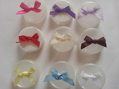 Pack 10 Pink Red Blue Cream Purple White Yellow Burgundy Red Ribbon Bows UK