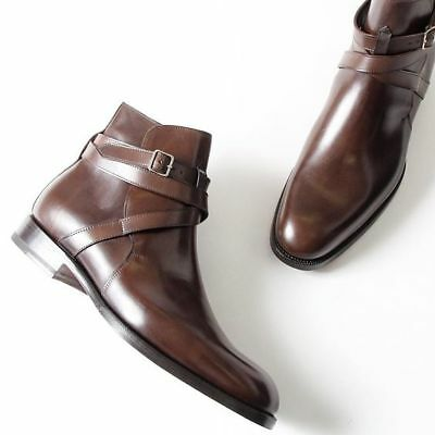 f097334b439 HANDMADE MEN BROWN Jodhpurs Boot, Men Brown Ankle Boot, Men Formal Boot