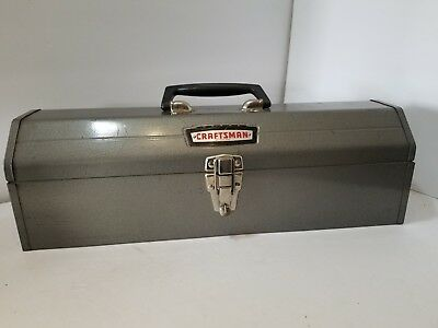 Vintage Craftsman Tombstone Hip Roof Crown Logo 65161 Tool Box With Tray 1960's