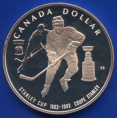 1993 Canada Proof Silver Dollar (25.175 Grams .925 Silver) Stanley Cup 100th
