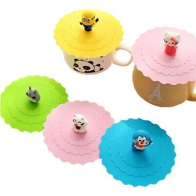 creative cartoon green food silicone cover  cute multifunctional  cup lid