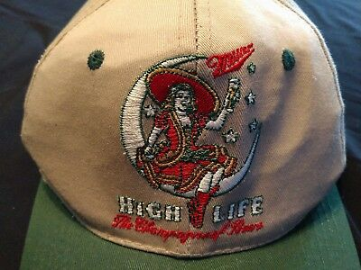 MILLER High Life Vintage embroidered Girl in Moon Adjustable Ball Cap Hat
