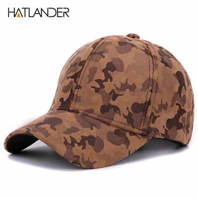 Suede camouflage baseball caps for women mens outdoor hats