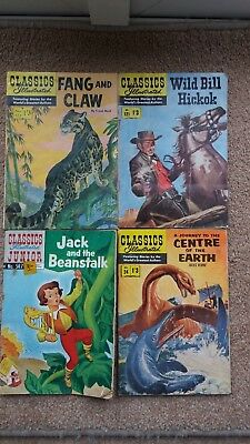 4 x Classics Illustrated comics 1960's