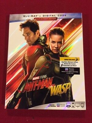 Ant-Man and the Wasp (Blu-ray, 2018) Brand New slipcover digital code