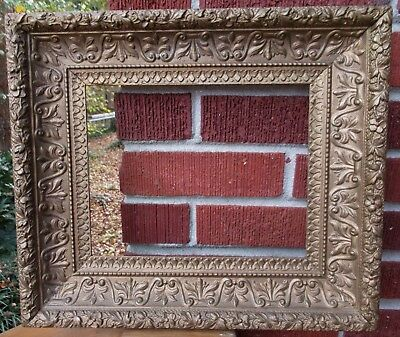 Antique American VICTORIAN GOLD Painted Fancy Picture FRAME 8 x 10 in. fit 1900s