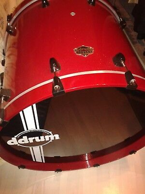 Bassdrum Kickdrum ddrum lackiert red sparkle black hardware schwarz 22 NEU