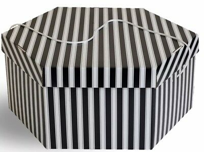 15 Hexagonal Hat Boxes With Lids - Large & Medium - Brand New
