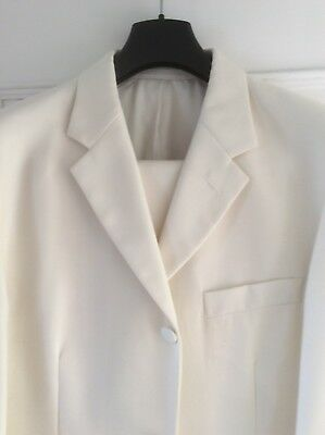"Prince Edward ivory (2 piece) Wedding Dress Suit worn once  Jkt 40""S trews 34""S"