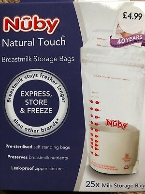 Nuby Natural Touch Breastmilk Storage Bags