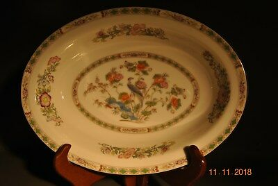 "Wedgwood Kutani Crane 11"" Oval Vegetable Serving Bowl Made in England R4464"