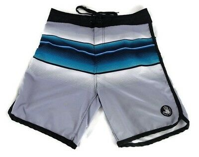 75ad5fb8fa BODY GLOVE BOARD SHORTS SWIM TRUNKS SURFING BEACH Ombre Blue Black Grey Mens  30