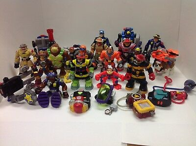MATTEL FISHER PRICE RESCUE HEROES Huge Lot 15 figures 1998-2004 Lot Of 25 Pieces