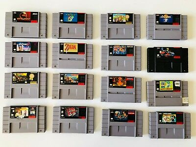 Super Nintendo SNES Lot 16 carts all tested and working