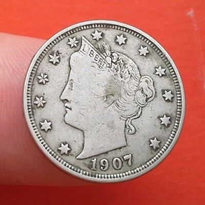 1907 US Five-cent coin Liberty head