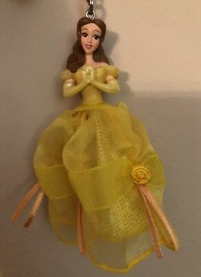 Disney Parks Beauty & The Beast Princess Belle Key Chain Figurine Dressed