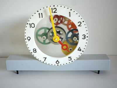 Vintage clock plastic retro industrial 1970's -80's for display only