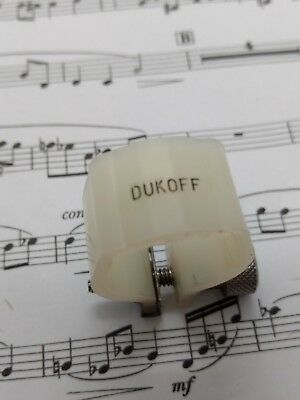 1970s/80s Dukoff Miami Florida plastic ligature suits Alto + Tenor Saxophone mpc