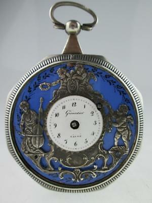 Antique 19th Century Solid Silver Pocket Watch By Girardier L'Aine Circa 1800