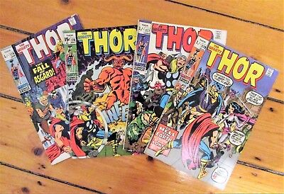 The Mighty Thor # 175, 176, 177, 179 Jack Kirby Marvel Comics 1970 FN  6.5+