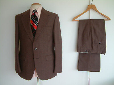"""1970's SUIT..FLARED..42"""" x 36""""..HARDY AMIES..GLAMTASTIC 70's WEEKEND 2019..DISCO"""