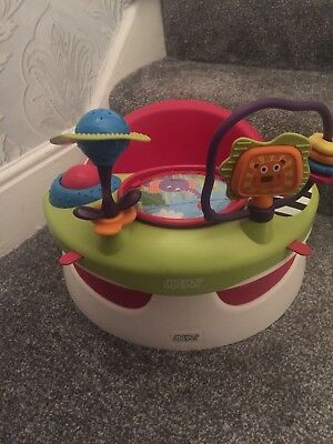Mammas And Pappas - Baby Snug Booster Seat With Tray - Red used Condition