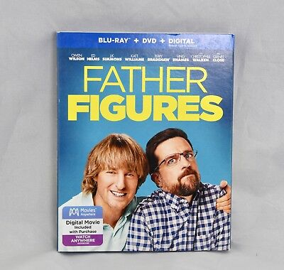Father Figures (Blu-Ray + DVD + Digital) With Slipcover BRAND NEW, SEALED