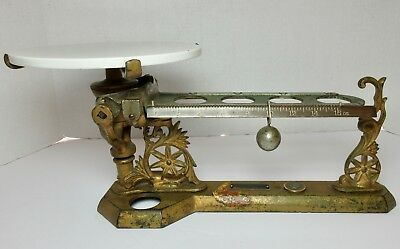 Antique HENRY TROEMNER CAST IRON BALL SCALE No. 44 Pinwheels