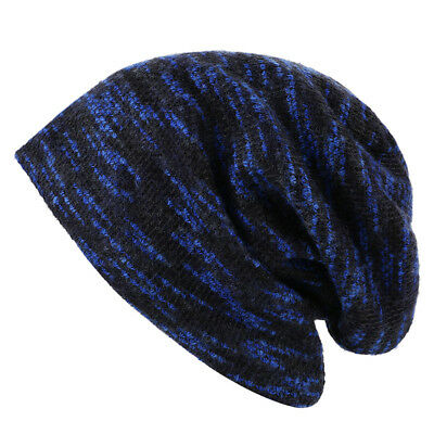 Winter Hats Skullies Beanies Warm Thick Striped Beanie Hat for Men Women Knitted