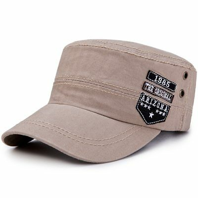 Army Hat Embroidery ARIZONA Flat Top Hat Cadet Patrol Gorras Baseball Cap Men