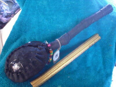 turtle rattle with lead crystal & beads