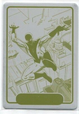 2015 Fleer Retro Marvel 1982 Fleer Yellow Printing Plate #10 Spider-Man 1/1